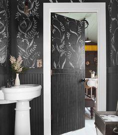 Decorating Idea: Chalkboard-Painted Bathrooms
