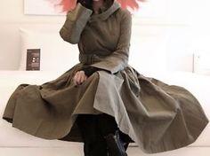 Celebrity runway unique junya made in korea watanabe hoodie a line trench coat