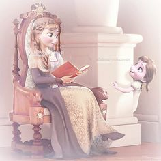 Rapunzel must have invited Anna and her daughter to Corona for a visit :D Princess Anna Frozen, Frozen Elsa And Anna, Disney Frozen Elsa, Disney Movies To Watch, Best Disney Movies, Dreamworks Movies, Disney And Dreamworks, Disney Questions, Frozen Book