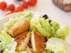 Chèvre pané, salade aux graines et vinaigrette au miel