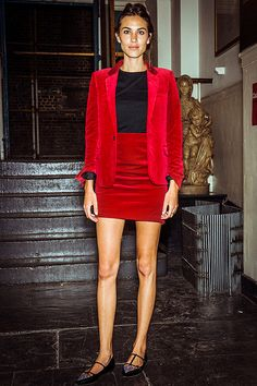 Alexa Chung at a private dinner hosted by Anya Hindmarch and mytheresa.com in London on June 10, 2014.