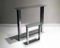 Set of steel table legs black diy patte de