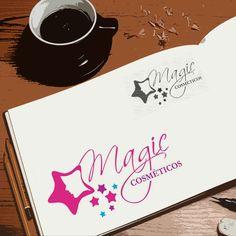 Criação de logotipo para a Magic Cosméticos por Foco Design & Gráfica.