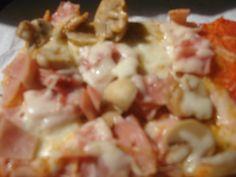 Pizza de jamón y queso con Amaranto y Quinoa