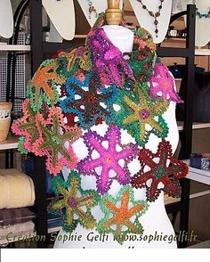 Ravelry: Starfish Granny Stole or Scarf pattern by Sophie GELFI Designs