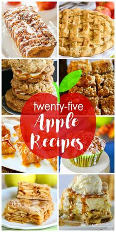25 Apple Recipes to get You Ready for Fall - Delicious apple pies, muffins… Best Apple Recipes, Apple Dessert Recipes, Köstliche Desserts, Fruit Recipes, Pumpkin Recipes, Fall Recipes, Sweet Recipes, Holiday Recipes, Baking Recipes