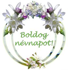 Névnap - jolka.qwqw.hu Name Day, Wreaths, Birthday, Happy, Pink, Decor, Decoration, Decorating, Saint Name Day