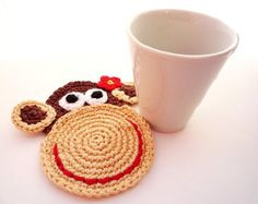 Crochet Cow Coaster Pattern Cow Applique by MonikaDesign on Etsy