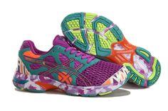 Asics Gel Noosa Tri 7 Women's Running Shoes Purple New Green Rose White