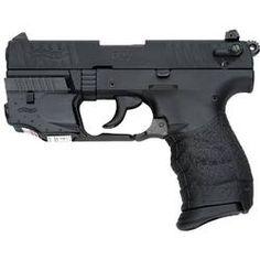 Walther P22 Semi Auto Pistol .22 LR 3.42 Barrel 10 Rounds Polymer Frame Threaded Barrel Picatinny Rail Laser Sight Black 5120329