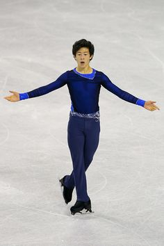 Nathan Chen of United States skates to a first place finish during the junior mens free skate at World Arena on September 4, 2015 in Colorado Springs, Colorado