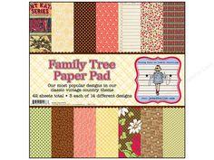"""Jenni Bowlin Paper Pad 12""""x 12"""" Family Tree"""