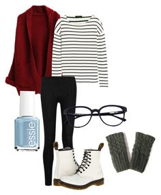cute and cozy by d3st1nyfa1th on Polyvore featuring polyvore fashion style J.Crew Donna Karan Dr. Martens Essie