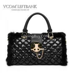 $53.002012 autumn and winter new Lingge rabbit fur bag the space package feather plush package portable shoulder women bag the Post