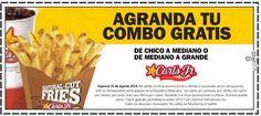 Carl's Jr Promo Agranda Combo