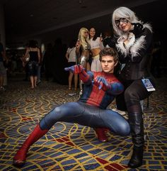 Spider man & black cat cosplay http://amzn.to/2k2HTMQ