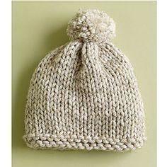Basic Hat / Radiant Hat pattern by Lion Brand Yarn Super Bulky Knit Hat very easy knit on 2 needles quick to knit FREE PATTERN by Lion Brand via Ravelry Knitting For Kids, Loom Knitting, Free Knitting, Knitting Projects, Knitting Kits, Knitting Tutorials, Knitting Machine, Vintage Knitting, Bonnet Crochet