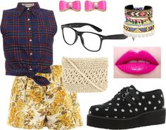 """""""Print Clash"""" by popz-magpie on Polyvore"""