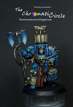 The Internet's largest gallery of painted miniatures, with a large repository of how-to articles on miniature painting Warhammer 40k Figures, Warhammer Art, Warhammer 40k Miniatures, Warhammer 40000, Space Marine Librarian, Miniaturas Warhammer 40k, Fantasy Battle, Space Wolves, Mini Games