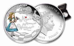 Tuvalu Coins | 2015 Tuvalu 1-oz Silver Alice in Wonderland Proof | Or you'll end up falling down a rabbit hole, and navigating a strange world that would rival your wildest dreams. Each 2015 Alice in Wonderland Proof celebrates the 150th anniversary of the book, Alice's Adventures in Wonderland.