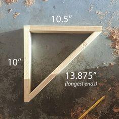 Simple DIY Wall Desk, Shelf & brackets (for under $23!) | Jenna Sue Design Blog | Bloglovin'