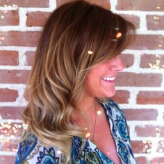 Dark blonde ombré for Fall.