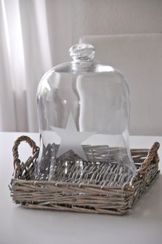 <3 Glass cloche & basket