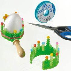 DIY Eierbecher aus Nabbi-Bügelperlen