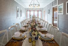 Beautiful farmhouse tables stained in Varathane Golden Mahogany for this gorgeous wedding venue in Van Alstyne, Texas.  Grayson Green Events