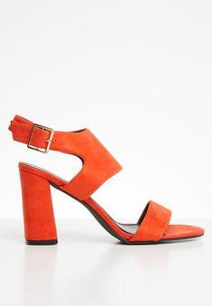 Slingback heel - orange STYLE REPUBLIC Heels | Superbalist.com Orange Style, Orange Fashion, Block Heels, Open Toe, Ankle Strap, Heeled Mules, Two By Two, Footwear, How To Wear
