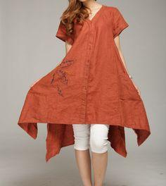 Loose put on a large linen mini dress by MaLieb on Etsy, $99.00