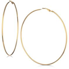 Guess Large Hoop Earrings ($20) ❤ liked on Polyvore featuring jewelry, earrings, accessories, gold, guess jewellery, hoop earrings, guess earrings and guess jewelry