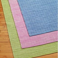 Kids' Rugs: Kids Pastel Colored Handwoven Rugs in All Sale Items