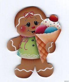 Resultado de imagem para imagenes de galletas navideñas para pintar