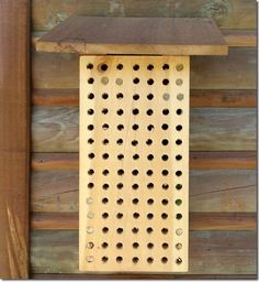 Solitary Bee House Wall Mounted Mason Bees Leafcutter Bees  6 Tray Version