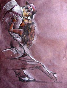 new Ideas for salsa dancing art paintings argentine tango Tango Art, Tango Dancers, Creation Art, Dance Paintings, Argentine Tango, Salsa Dancing, Couple Art, Black Art, Love Art