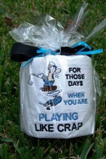Playing Golf Like Crap Embroidered Toilet Paper $9.95