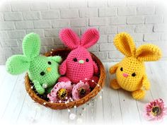 We continue to produce healthy toys and share what we produce with Amigurumi recipes.You can find Amigurumi knitting models on our website. Bunny Crochet, Easter Crochet Patterns, Crochet Teddy, Crochet Animals, Crochet Yarn, Crochet Toys, Amigurumi Doll Pattern, Craft Tutorials, Cute Gifts