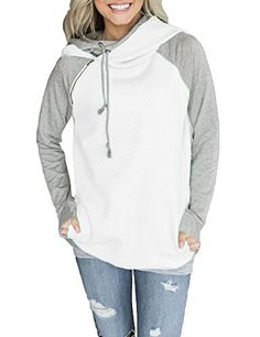 860bb613747 Fashion Women Hoodie Sweatshirts Contrast Color Long Sleeve Drawstring  Casual Warm Pullover Hooded Tops from Chicloth. Best affordable Sweatshirts    Hoodies ...