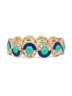 Crystal Geo Enamel Bracelet Bracelet | BaubleBar