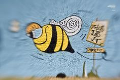 This is it! Wall art with montana cans. #art #montanacans #mtncolors #graffiti #bee #spraypaint #streetart#ilovetobeehere #yellow #blue #photography #artphotography #inspiration #greece #hellas #greekartist #thisisit #happy