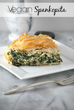 Vegan Spanakopita with kale, spinach, and Follow Your Heart egg and cheese