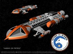 Space 1999 Mark IX Hawk Render by Ravendeviant.deviantart.com on @DeviantArt