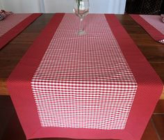 Picnic Blanket, Outdoor Blanket, Table Runners, Red And White, Table Settings, Dining Table, Embroidery, Quilts, Sewing