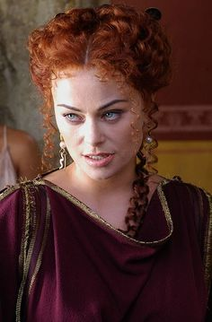 Polly Walker In Costume for 'Rome', mini series.