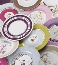 Marie Daage hand painted limoges porcelain...What I wouldn't give for a mix and match service for 12!