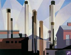 Charles Sheeler – American Stacks in Celebration, 1954 Oil on canvas 22 x 28 inches Charles Sheeler, Charles Demuth, Robert Motherwell, Richard Diebenkorn, Jackson Pollock, Keith Haring, Contemporary Artists, Modern Art, A Level Art