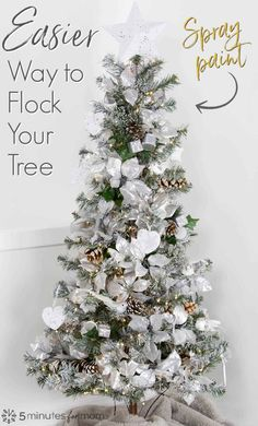 Are you wondering how to spray paint your Christmas tree? See how to spray paint a rose gold Christmas tree and make a DIY white Christmas tree with silver accents. This craft tutorial is sponsored by Testors. Rose Gold Christmas Decorations, Rose Gold Christmas Tree, Christmas Tree Bulbs, Unique Christmas Trees, Christmas Tree Painting, Christmas On A Budget, Christmas Tree Themes, Christmas Crafts, White Christmas