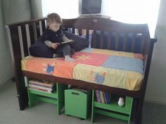 Toddler bed from old crib