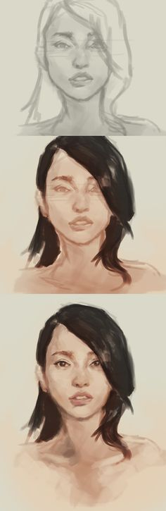 how to paint Asian girl